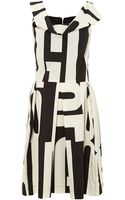 Vivienne Westwood Anglomania Sleeveless Cowl Neck Printed Dress - Lyst