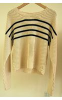 Vanessa Bruno Athé Stripe Sweater Blanc - Lyst