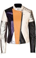 3.1 Phillip Lim Leather Patchwork Biker Jacket - Lyst