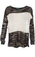 Alice + Olivia Julie Colorblock Sweater - Lyst