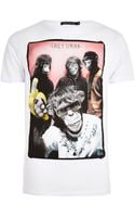 River Island White Friend Or Faux Front Print Tshirt - Lyst