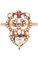 Sabine G 18k Rose Gold Ring with Heart-shaped Diamond - Lyst