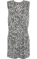 Halston Heritage Printed Stretchsilk Playsuit - Lyst