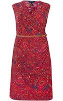 Lauren by Ralph Lauren Printed Cap Sleeve Wrap Dress - Lyst