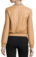 Halston Heritage Longsleeve Quilted Leather Jacket - Lyst