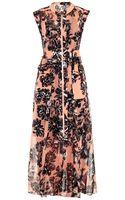 Rebecca Taylor Splashy Flower-print Silk Maxi Dress - Lyst