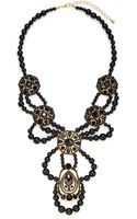 Saks Fifth Avenue Beaded Medallion Bib Necklace - Lyst