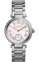 Michael Kors Womens Mini Skylar Stainless Steel Bracelet Watch 33mm - Lyst