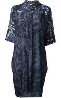 Stephan Schneider Flower Print Shirt Dress - Lyst