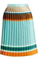 Ostwald Helgason Striped Pleated Silkblend Skirt - Lyst