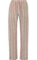 Etoile Isabel Marant Madjo Printed Silkcrepe Straightleg Pants - Lyst