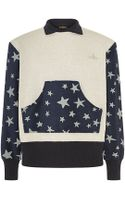 Vivienne Westwood Anglomania Contrast Star Print Sweater - Lyst