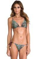 Zimmermann Vivid Reversible Tri Bikini in Cream - Lyst