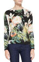 Ted Baker Noorie Opulent Bloomprint Sweater - Lyst