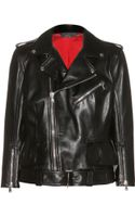 Alexander McQueen Leather Biker Jacket - Lyst