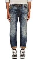 Diesel Blue Distressed Narrot_ne Jogg Jeans - Lyst