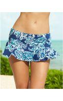 Lauren by Ralph Lauren Printed Ruffle-hem Swim Skirt - Lyst
