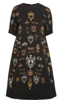 Dolce & Gabbana Printed Stretch-wool Crepe Dress - Lyst