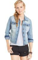American Rag Hooded Denim Jacket - Lyst
