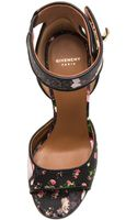 Givenchy Shark Lock Floral Nappa Leather Sandal - Lyst