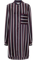 Joseph Satin College Stripe Shirty Dress - Lyst