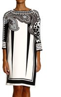 Etro Dress 34 Sleeve in Silk with Cachemire Print - Lyst