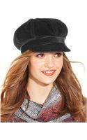 Nine West Faux Haircalf Newsgirl Cap - Lyst