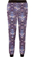 Tibi Ibis Printed Sateen Tapered Pants - Lyst