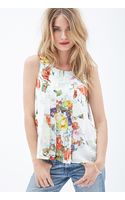 Love 21 Watercolor Floral Print Tank - Lyst