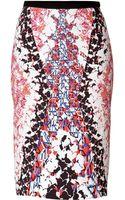 Peter Pilotto Printed Pencil Skirt - Lyst