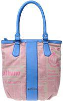 John Galliano Large Fabric Bag - Lyst