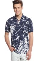 Tommy Hilfiger Jerry Tiedyed Indigo Polo - Lyst