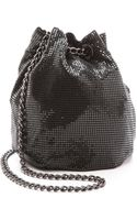 Whiting & Davis Soft Metal Bucket Bag - Black - Lyst