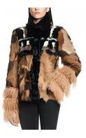 Patrizia Pepe Short Fur Coat in Real Goat and Mongolian Lamb Skin - Lyst