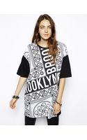 Asos Oversize Tshirt in Bandana Print - Lyst