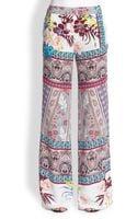 Etro Silk Wide-leg Pants - Lyst