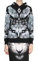 Marcelo Burlon Alas Frozen Cotton Sweatshirt - Lyst