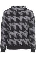 Stefanel Sponge Stitch Patterned Sweater - Lyst