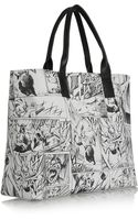 McQ by Alexander McQueen Printed Leather Tote - Lyst