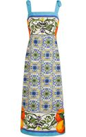 Dolce & Gabbana Tile Print Textured Dress - Lyst