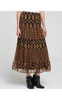 Ella Moss Skirt  Marigold Silk - Lyst