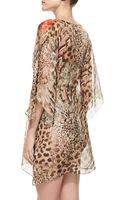 Gottex Maculato Silk Leopardprint Coverup Beach Dress - Lyst