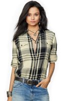 Denim & Supply Ralph Lauren Roll-tab-sleeve Plaid Flannel Shirt - Lyst