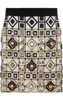 Fausto Puglisi Embellished Black and White Apron - Lyst