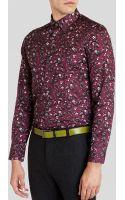 Ted Baker Noface Floral Print Sport Shirt - Regular Fit - Lyst