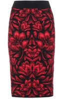 Alexander McQueen Intarsia Pencil Skirt - Lyst