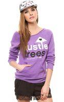 LRG The Hustle Trees Raw Crew Neck Sweatshirt - Lyst