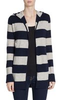 Christopher Fischer Striped Cashmere Hooded Cardigan - Lyst