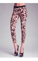 Bebe Printed Leggings - Lyst