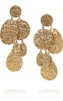 Oscar de la Renta Hammered Goldplated Clip Earrings - Lyst
